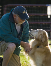Older Man with Golden Retriever