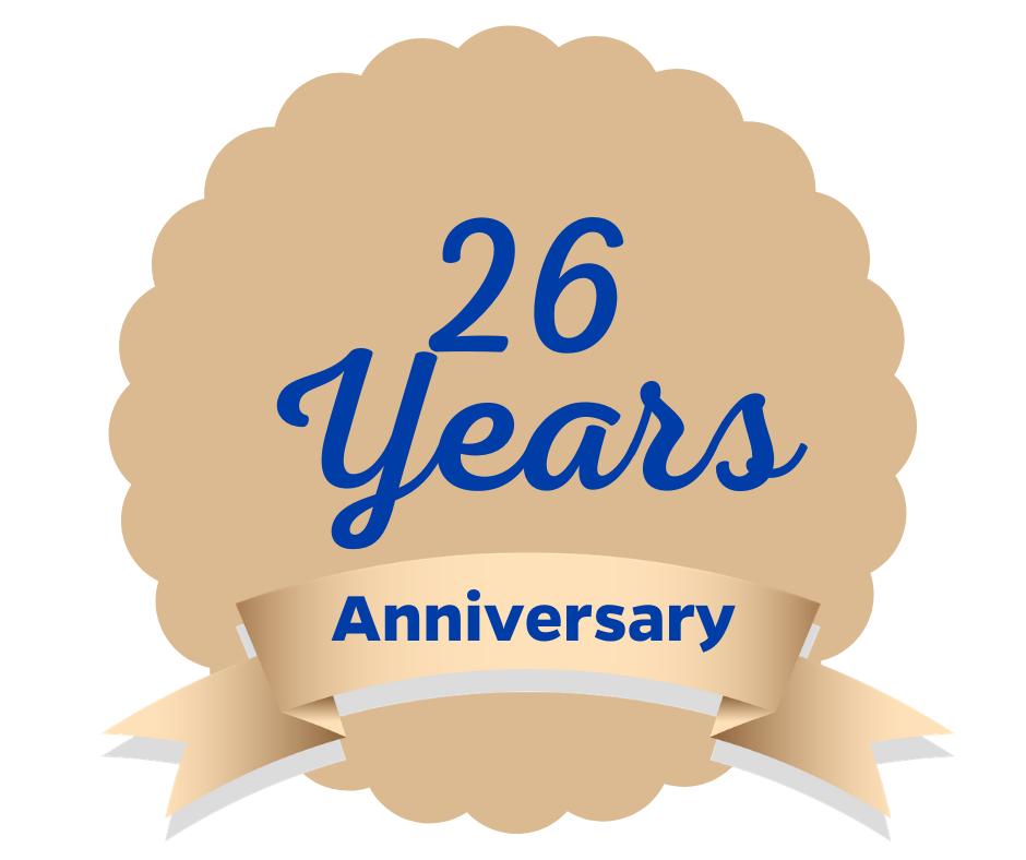 26th anniversary medalion