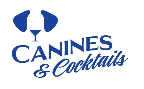 Canines & Cocktails blue logo